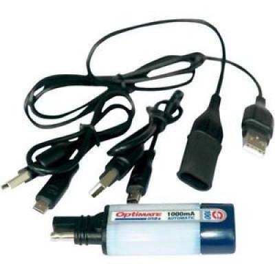 TECMATE USB PUNJAČ SA 3 DODATNA KABLA USB, MINI USB, MICRO USB
